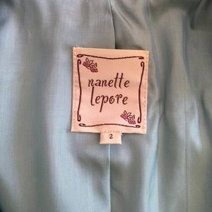 Nanette Lepore Jackets & Coats - Nanette Lepore Aqua Ciao Bella Suit Blazer Sz 2